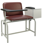 2574XL Winco Extra Wide Blood Drawing Chair with Flip Arm